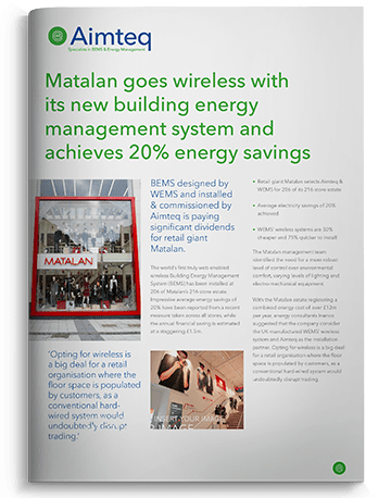 Aimteq install multi-site wireless BMS at Matalan and save millions